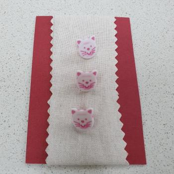 PINK CAT BUTTONS