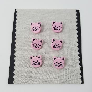 PINK CAT BUTTON