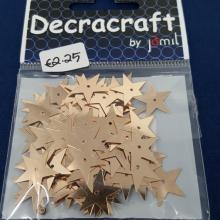 DECRACRAFT STARS SEQUINS GOLD