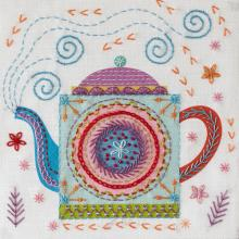 TEAPOT EMBROIDERY KIT
