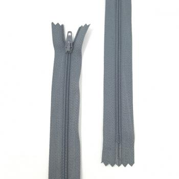 TR 7 inch/18cm NYLON ZIP GREY