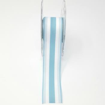 BLUE AND WHITE STRIPE GROSGRAIN RIBBON 1.5in