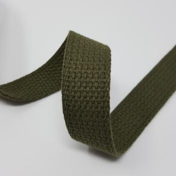 1 inch COTTON WEBBING OLIVE