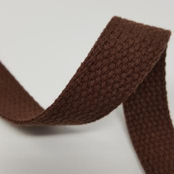 1 inch COTTON WEBBING BROWN