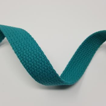 1 inch COTTON WEBBING AQUA